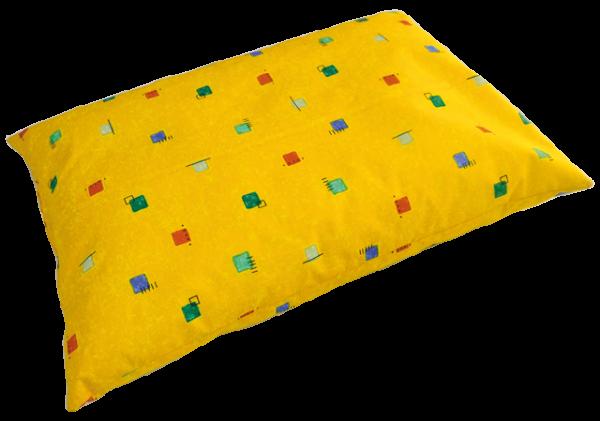 Kissen 40 x 60 cm bestehend aus <u>einer</u> Hülle, Standardfarbe gelb gemustert Außenhülle auf Wunsch (siehe Auswahl)